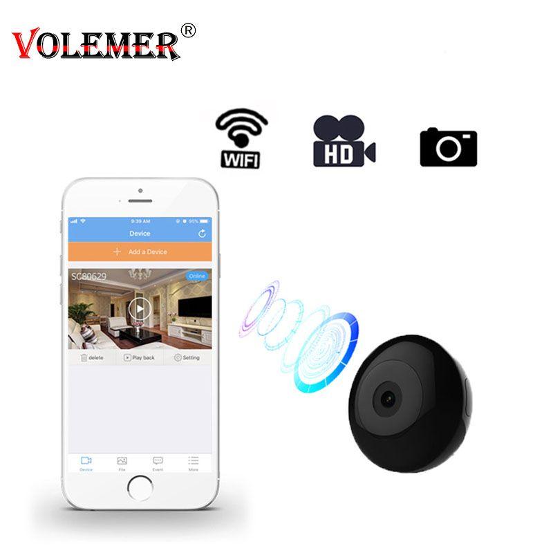 Mini caméscopes Volemer Wifi IP 720 P Mini caméra capteur HD caméra vidéo sans fil aimant Wifi Adsorption avec carte SD