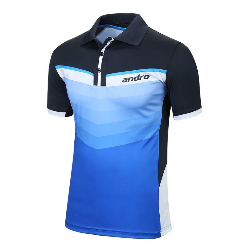Andro Original Top Quality Table Tennis Jerseys Training T-Shirts Ping Pong Shirts Cloth Sportswear