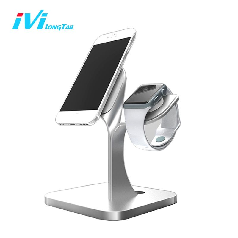Aluminum Alloy Holder Stand for Apple Watch Holder for iPhone Pad Stand Charge Non-slip Dali Artistic Decoration Dock Station