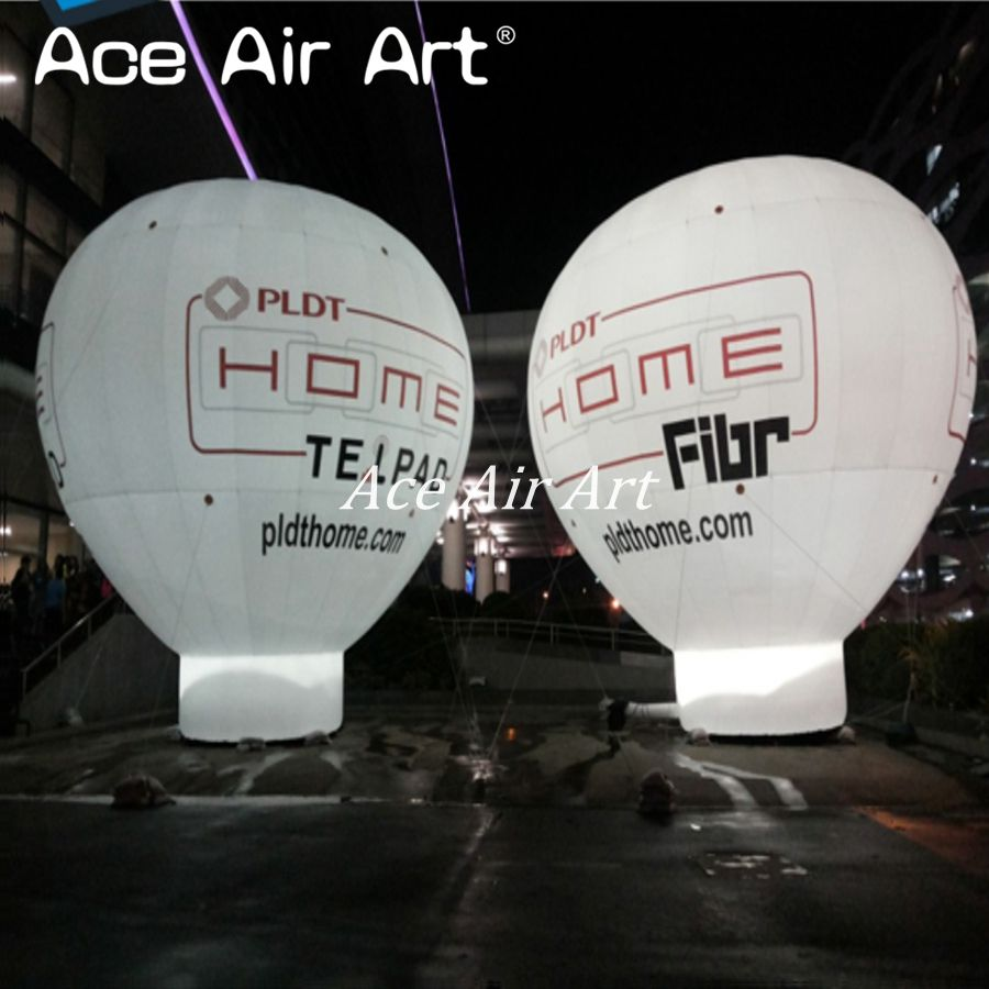 giant inflatable hot air roof balloon replica come with air blower for advertising with logo and led lights for party
