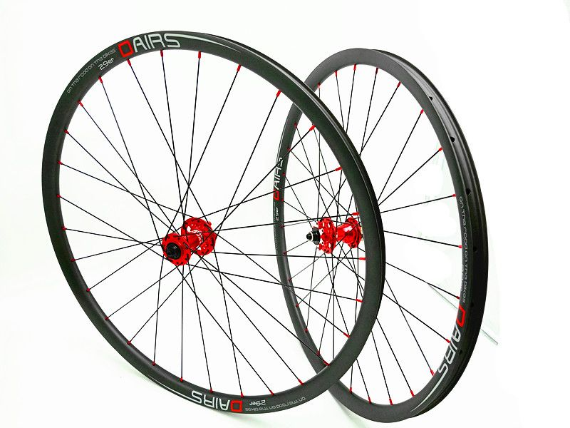 DAIRS 29er xc 27mm carbon MTB räder 29er MTB räder QR 100 x9mm 135x9mm red hubs mountainbikes fahrrad MTB räder 1420 UD matt