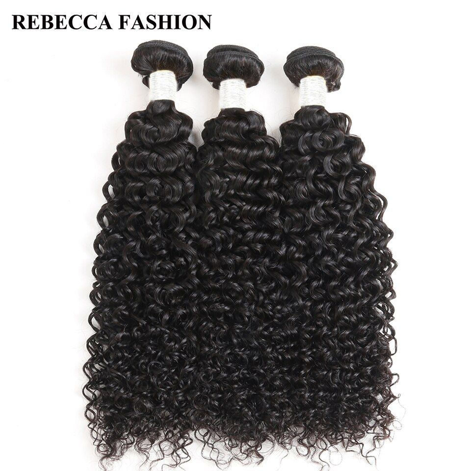 Rebecca Brazilian Curly Hair Weave Human Hair Bundles 3Pcs/lot 100% Remy Hair Extensions 300g Salon Natural Color 8 to 30 Inch