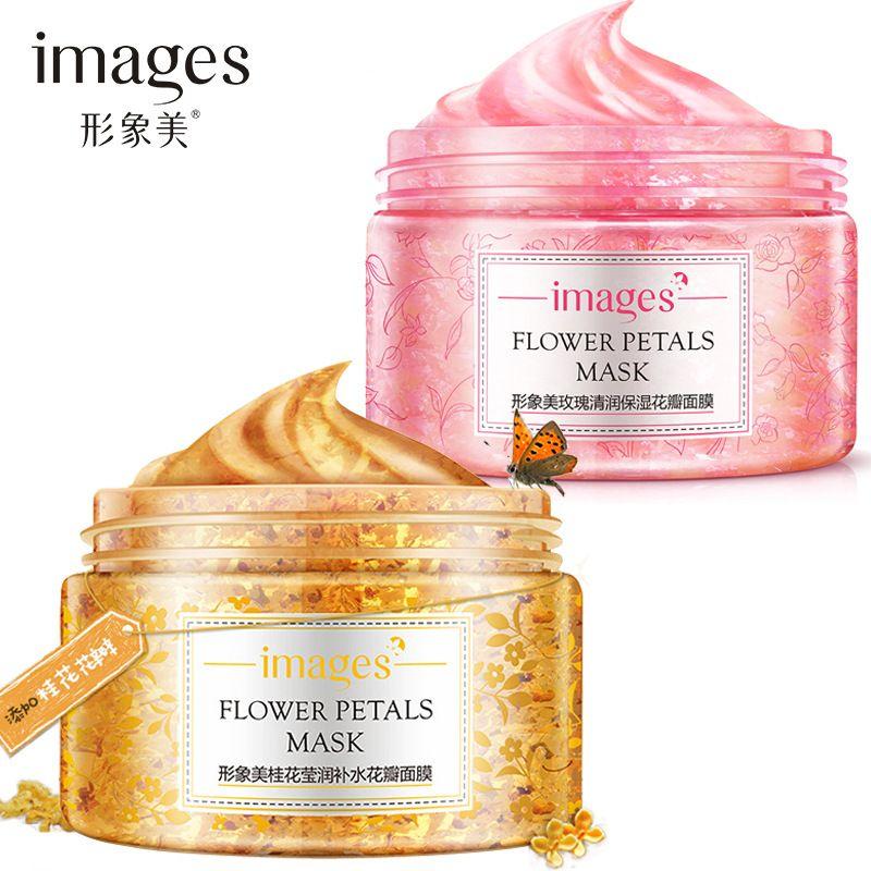 Fleurs 120g Hydratant Masque Deep Cleansing Purification Supprimer Exfoliation le Contrôle Du Pétrole Soins de La Peau Blanchissant Rétrécir Les Pores