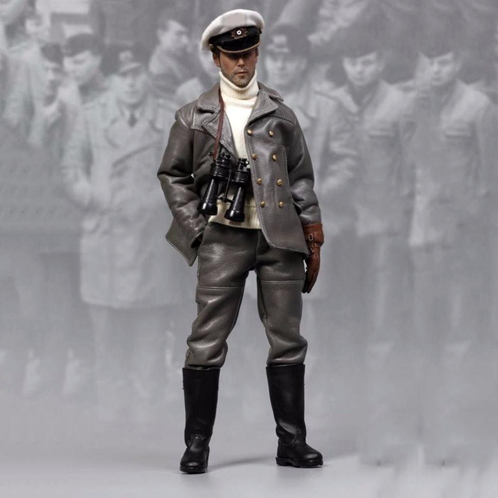 SEGUNDA GUERRA MUNDIAL Soldado Figura de colección 1/6 Escala U-barco Captian Hombre Muñeca 1/6 Escala Figura de Acción Juguetes de la Muñeca De colección