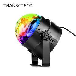 Вечерние свет диско шар вращающийся Звук Активированный стробоскоп сценическая лампа для дня рождения DJ Дети Xmas Lumiere soundlighсветодио дный Дис...