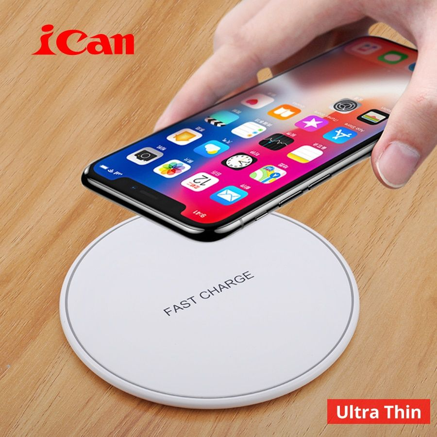 Ican Wireless Charger for iPhone 8/X /8 Plus 10W Qi Fast Wireless Charging Pad Wireless Charger for Samsung Galaxy S8/S7 /S8 +