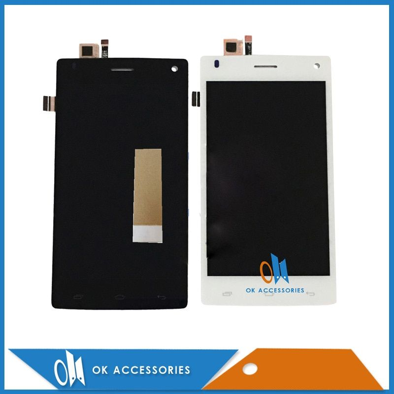 For Fly FS452 FS 452 LCD Display+Touch Screen Digitizer Assembly Black White Color High Qualityt With Tape 1PC/Lot