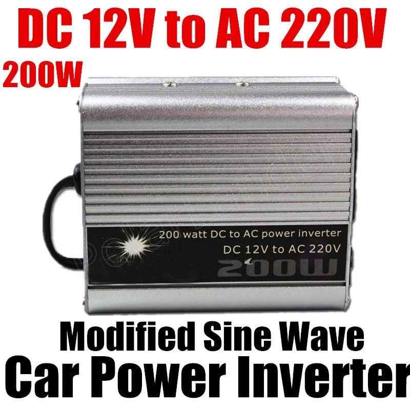 DC 12v to AC 220v USB charger modified sine wave car voltage transformer hot sale 200W car Power Inverter converter