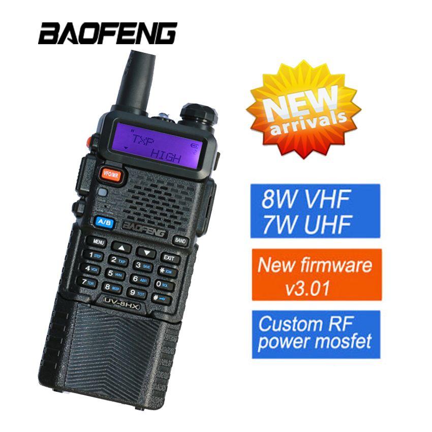 Baofeng UV5R Talkie-walkie 8 w Radio Baofeng UV-8HX Émetteur-Récepteur Double Affichage Radio Communicateur UV-5R Talkie-walkie Portable Ensemble