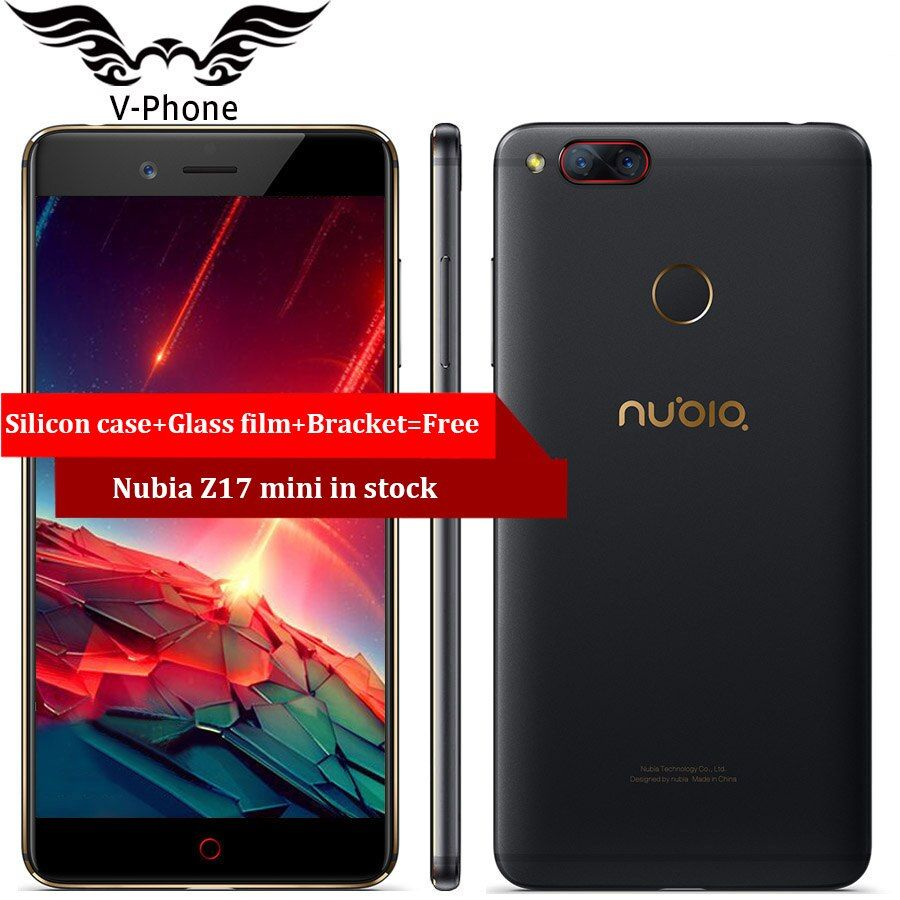 Global ROM ZTE Nubia Z17 mini LTE 4G Mobile Phone 6GB 64GB 5.2 inch Snapdragon 653 Dual Rear Camera 13MP+13MP Fingerprint NFC