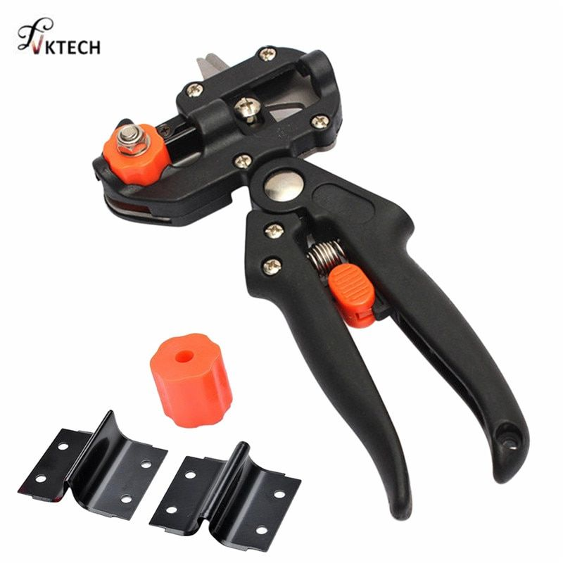 Garden Tools Pruner Chopper Vaccination Cutting Tree Garden Grafting Tool with 2 Blades Plant Shears Scissors Dropshipping