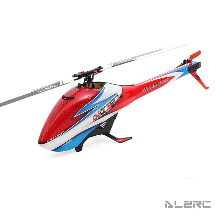 (Special Offer) ALZRC - Devil 380 FAST FBL - Black - RC 380 Helicopter  Collocation Color Shell And Red Tail Advanced Edition