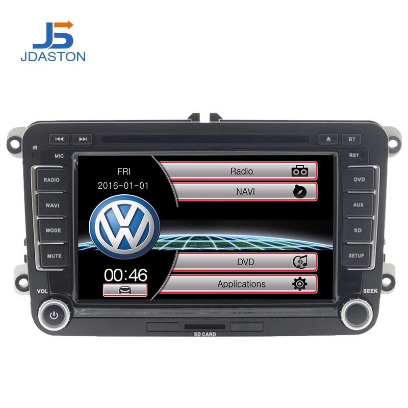 JDASTON 2 DIN 7 Zoll Auto DVD GPS Radio Für Skoda Volkswagen VW Passat B6 Polo Golf 4 5 Touran sharan Jetta Caddy T5 Tiguan Bora