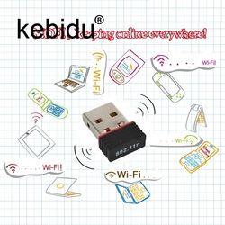 Kebidu Mini USB Сетевая LAN Карта 150 Мбит/с WiFi беспроводной адаптер 802,11 n/g/b RT для телефона для ПК