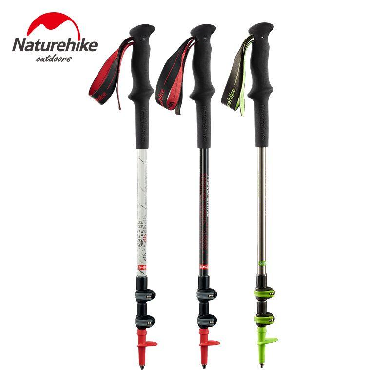 Naturehike Carbon Fiber + Aluminum Alloy Walking Stick Pole Lightweight Camping Trekking Pole Hiking Stick Cane about 185g