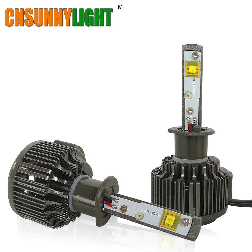 CNSUNNYLIGHT H1 LED High Lumen 30W 3600lm 5500K Super White with Turbo Fan Auto Headlight Fog Light Kit For Buicks Luxes Mazda