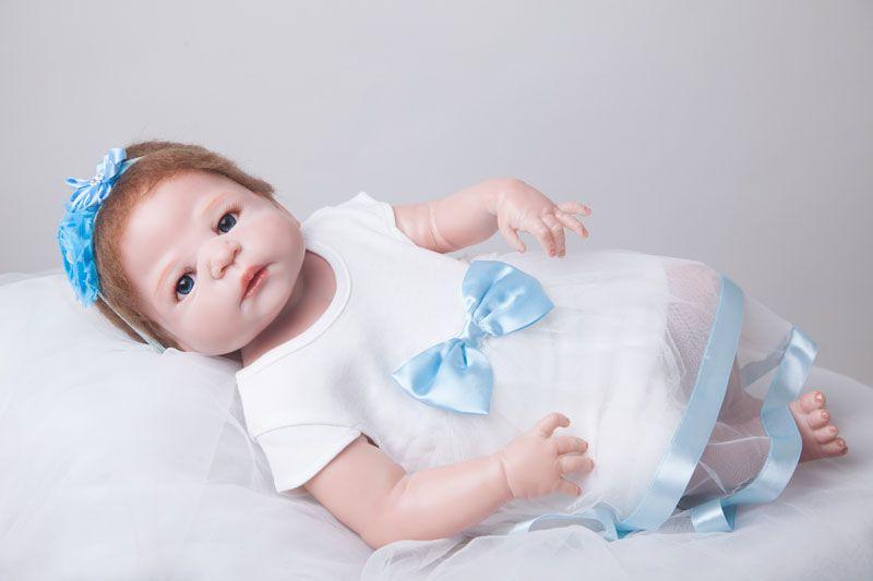 55cm Full Body Silicone Reborn Baby Doll Toys Play House Toy Newborn Girl Baby Christmas Gift Birthday Gift Girls Brinquedos Ba