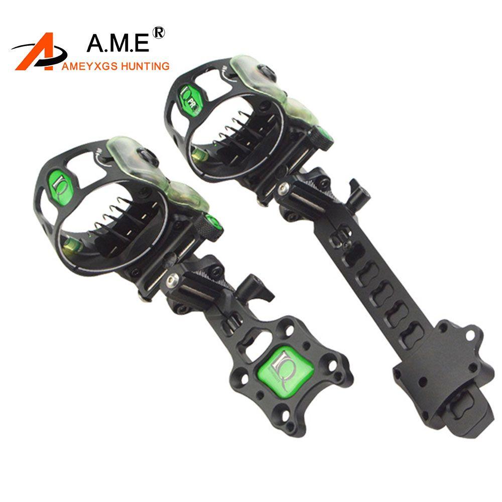 IQ Miras Bowsight 5 pins Archery Compound Bow Sights Laser LED Light Illuminated By Optical Fiber Micro Optic Sight Hunting