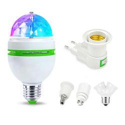 85-265 В RGB DMX светодио дный свет этапа E27 3 Вт RGB светодио дный лампы КТВ диско-бар вечерние лампы для отдыха танец украшения хрустальный шар свет...
