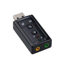 Externe USB Carte Son 7.1 Canaux 3D Audio Adaptateur avec 3.5mm Casque MIC pour PC De Bureau Portable