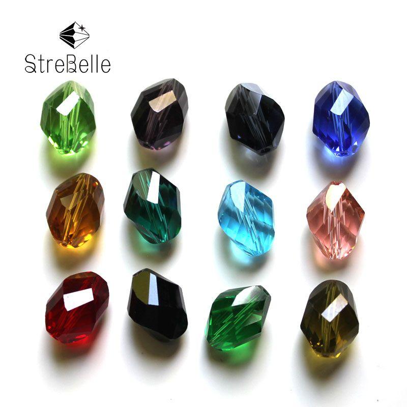 13x10mm bijoux à bricoler soi-même de mode perles ovales torsadées adaptées à la décoration de l'arbre de noël AAA 100 pièces
