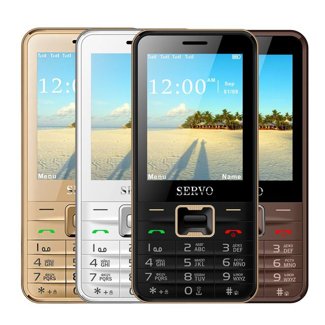 Original SERVO V8100 Phone With Quad SIM 4 SIM card 4 standby Bluetooth Flashlight 2.8 inch Cheap Cell Phone