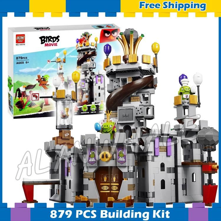 879pcs The Crazy Birds Movie King Pig's Castle 10510 Building Blocks Model Games Bricks Kids Sets Toys Gift Compatible With Lego