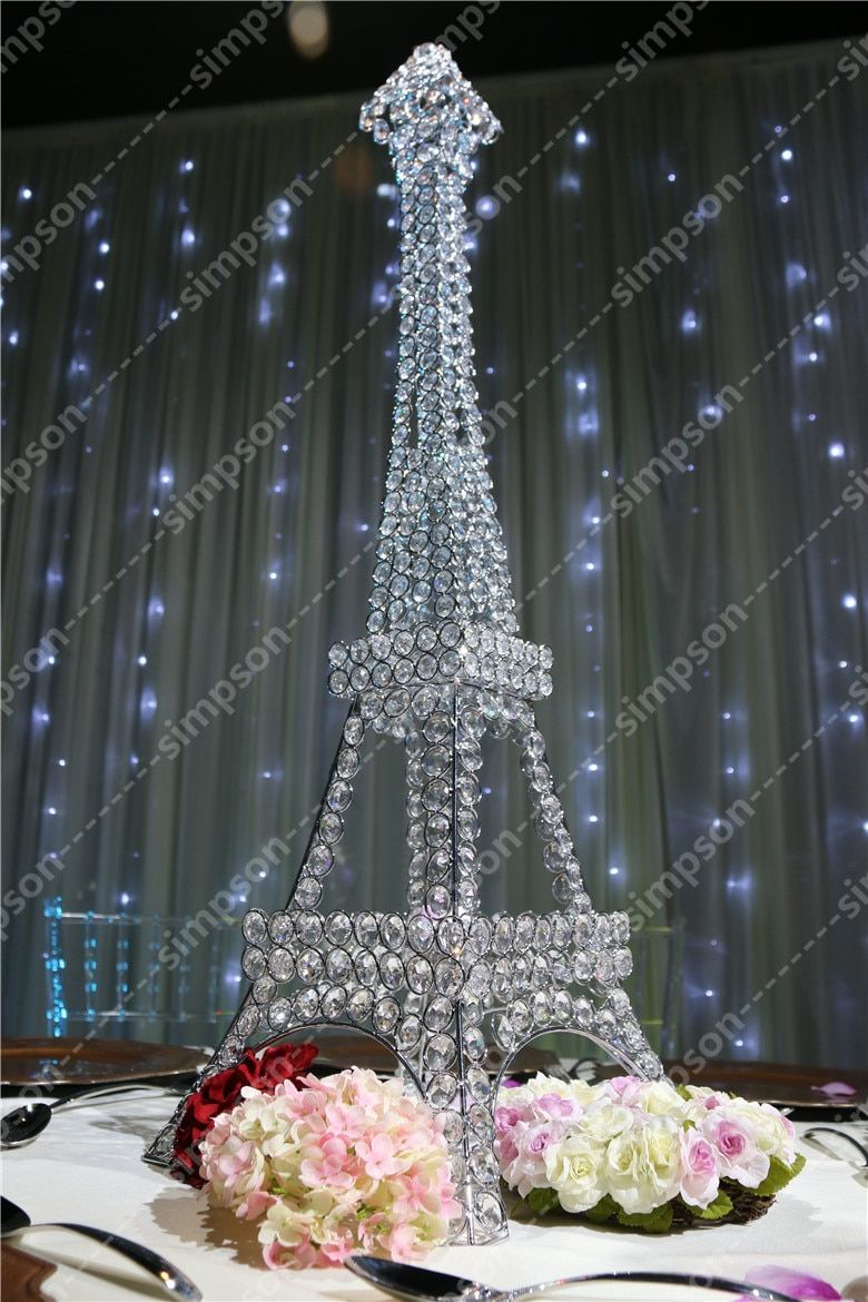 3pcs Free shipment Candelabra centerpiece Eiffel Tower crystal candle holder Wedding decorations party decorations event decor