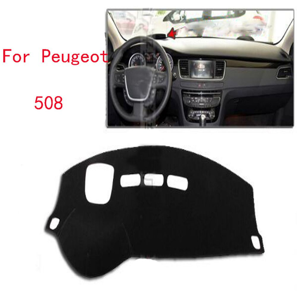 Dongzhen For Peugeot 508 Car Dashboard Cover Avoid Light Pad Instrument Platform Dash Board Cover Car Styling Display Screen