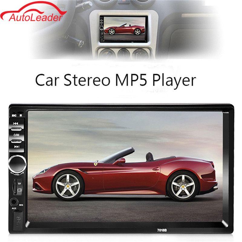 2 DIN 7 ''Сенсорный экран автомобиля Радио плеер аудио стерео Bluetooth MP5 FM AUX-несколько языков меню с сзади вид Камера