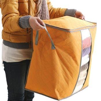 Belle Bonne qualité 2017 Nouvelle Arrivée Non Tissé Vêtements Boîtes De Rangement Organisateur Portable rangement vêtements box5.55 de stockage