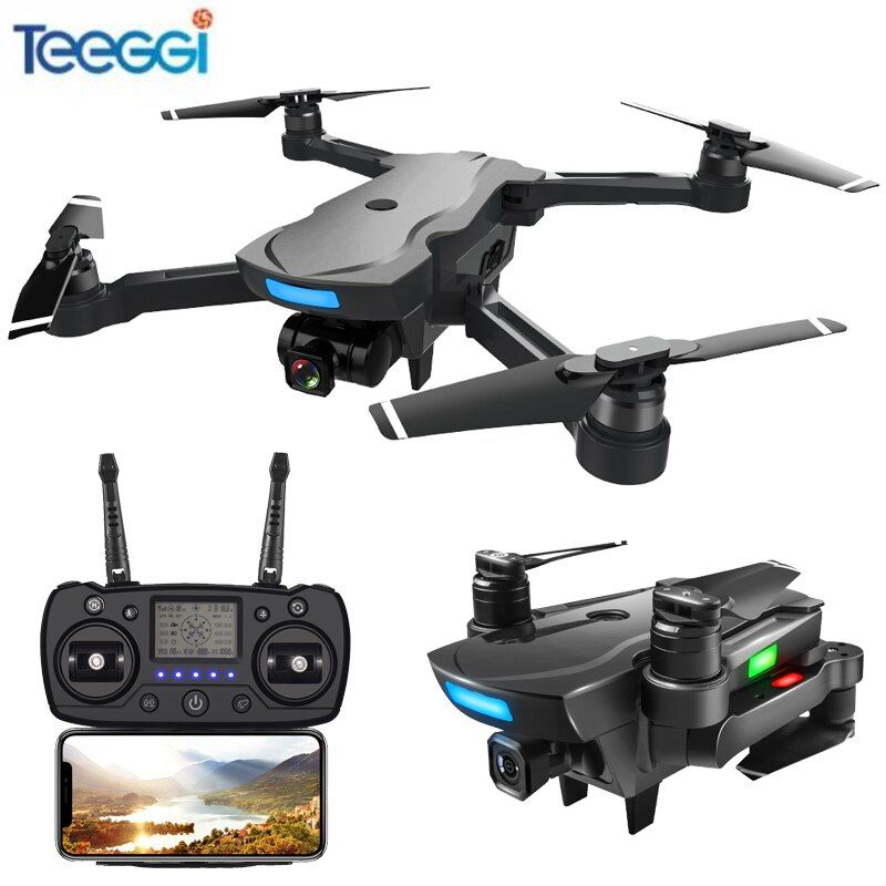 Teeggi CG033 Brushless GPS FPV RC Drone With 1080P HD WiFi Gimbal Camera Or No Camera RC Helicopter Foldable Quadcopter GPS Dron