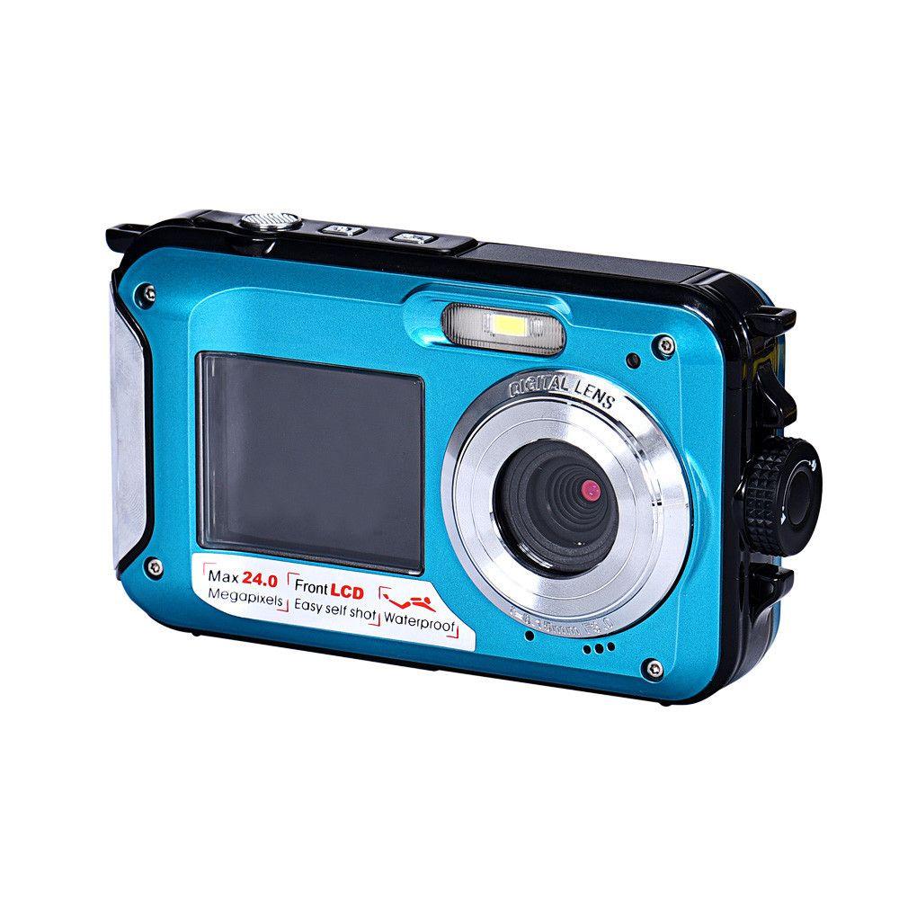 Double Screen Waterproof Camera 24MP 16x Digital Zoom Dive Camera 17Otc16