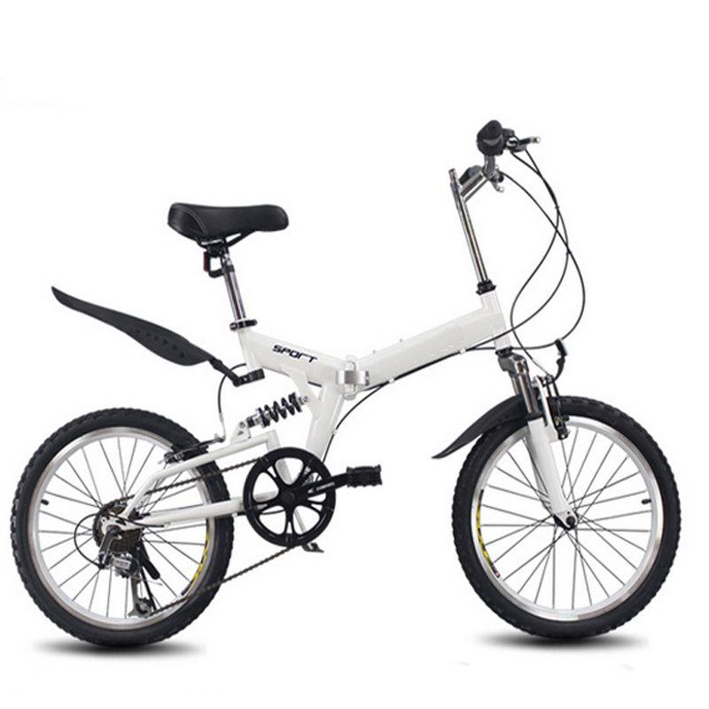 20 zoll klapp fahrrad 6 variable geschwindigkeit fahrrad rennrad kinder mountainbike Tragbare leichte falten fahrrad