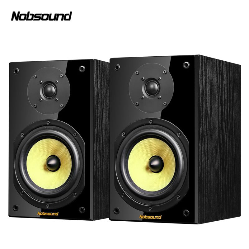 Nobsound NS-2000 Wood 100W 1 Pair 6.5 inches Bookshelf Speakers 2.0 HiFi Column Sound Home Professional speaker