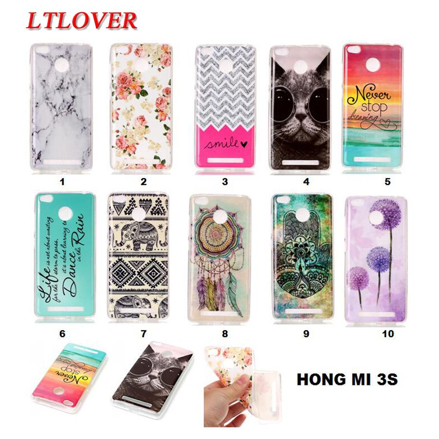 For Redmi 3S Cases New Owl Tower Flag TPU Silicone Soft Case For Xiaomi Redmi 3S Back Skin Cover Phone Protect ShockProof Cases