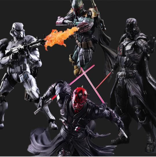Star Wars Actionfigur Play Arts Kai Boba fett Darth Vader Stormtrooper Maul Modell Spielzeug PLAY ARTS Star Wars Playarts puppe