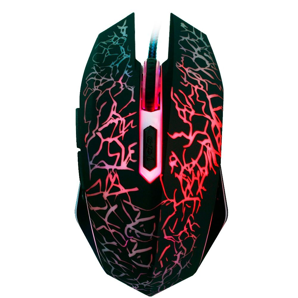 Gaming Mouse Optical Mouse 4000 DPI 6 Button Led Mouse Optical USB Wired Gaming Mice Computer Mouse Gamer 7 LED color Changing