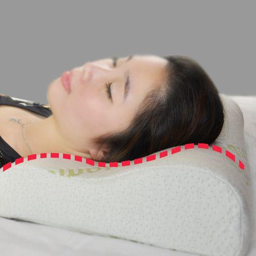 Livraison gratuite 100% bambou fibercover mousse à mémoire Lente remontée oreiller cervical soins de santé