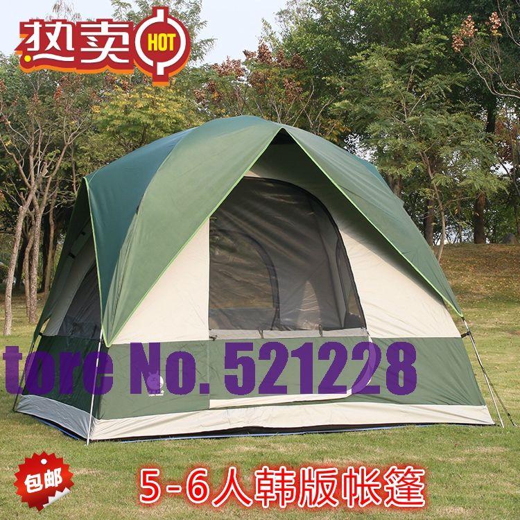 5-6 person rainproof Air ventilation hiking travel trekking beach fishing park family BBQ outdoor camping tent