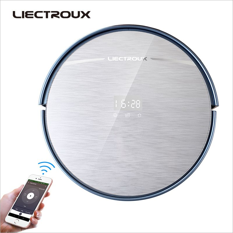 LIECTROUX X5S <font><b>Robot</b></font> Vacuum Cleaner, WIFI APP Control,Gyroscope Navigation,Switchable Water Tank & Dust Bin,Schedule,Auto Charge