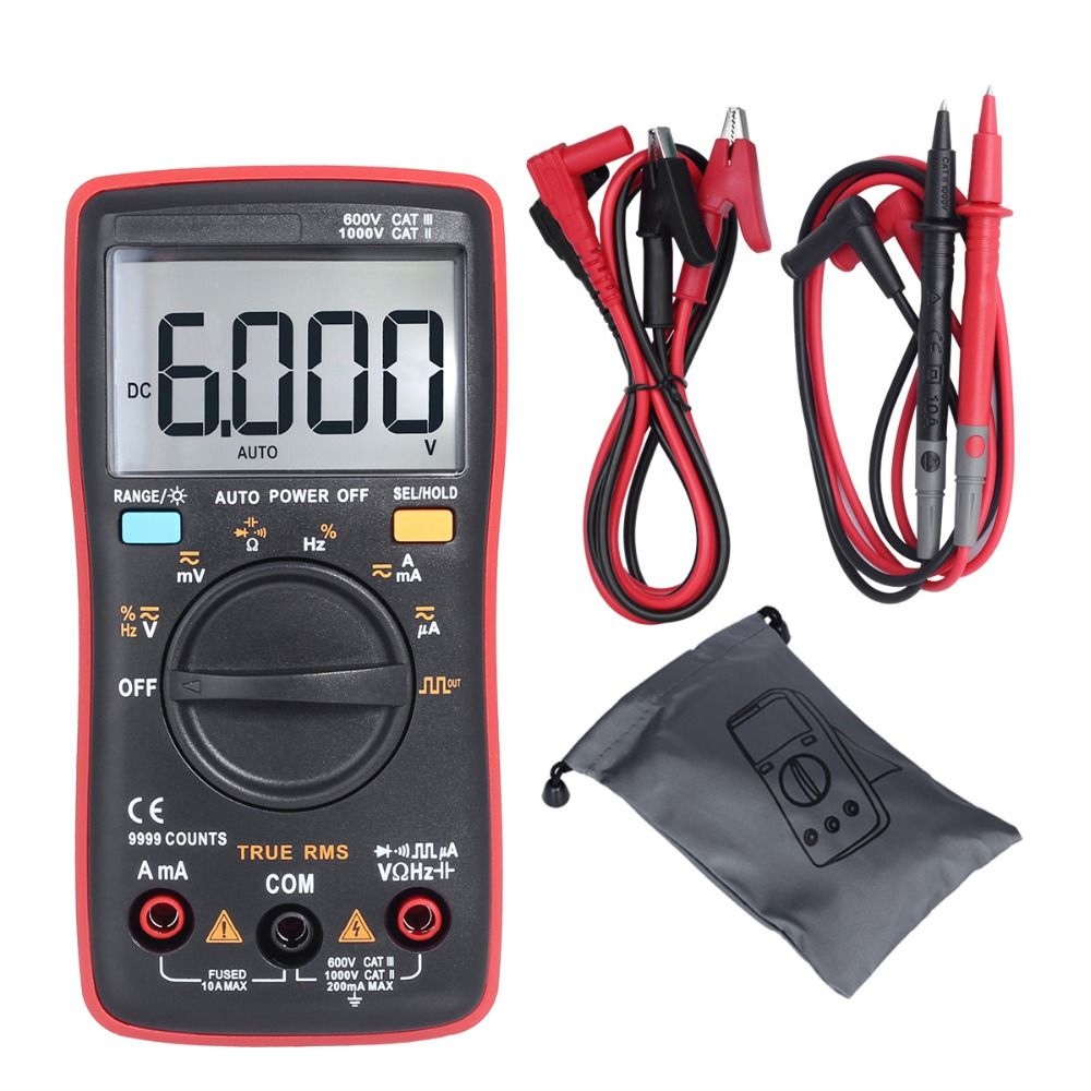 BSIDE ZT109 Professional And Practical Ture RMS Digital Multimeter 9999 Counts Backlight AC/DC Ammeter Voltmeter Ohm Meter RM109