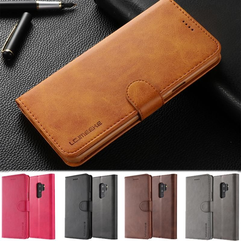 Flip book case For Funda Samsung galaxy S9 Luxury PU Leather Wallet phone cover For samsung galaxy S9 Plus case samsung S9 Plus