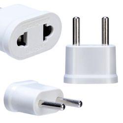 1 stück UNS Zu EU Plug Power Adapter Weiß Travel Power Plug Adapter Ladegerät