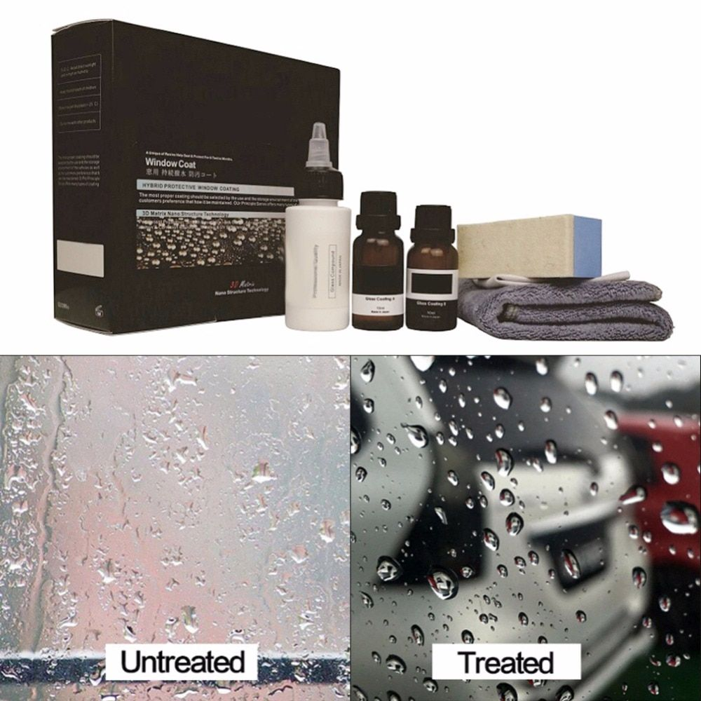 Liquid Two A & B Car Winder Glass Water Repellent Waterproof Fluoride Coating Plated Crystal Professional Car glass coating
