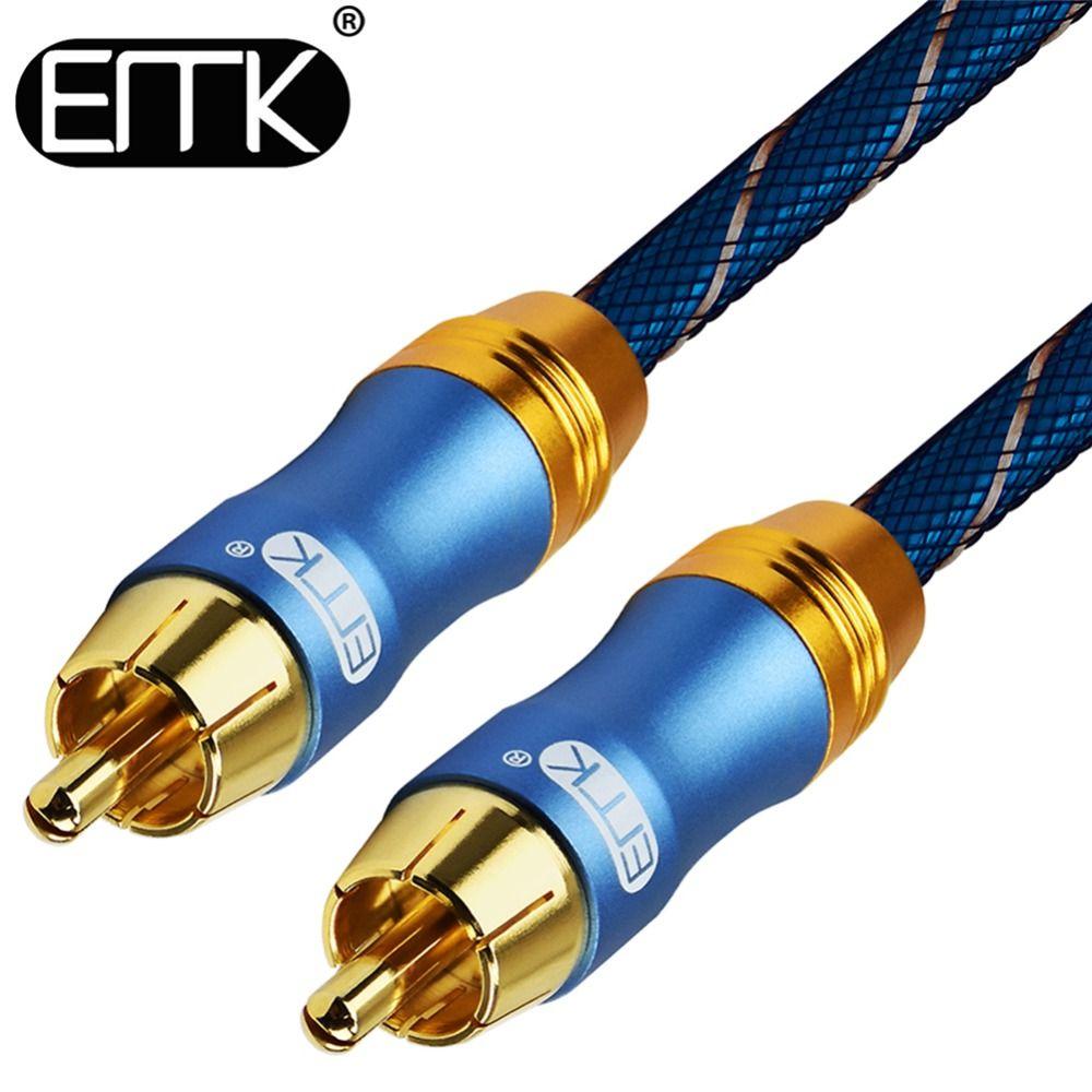 EMK Audio Numérique Coaxiale Câble OD8.0 6.0 Premium Audio Stéréo Rca vers Rca Mâle Coaxial Câble Haut-Parleur Hifi Câble Subwoofer AV TV