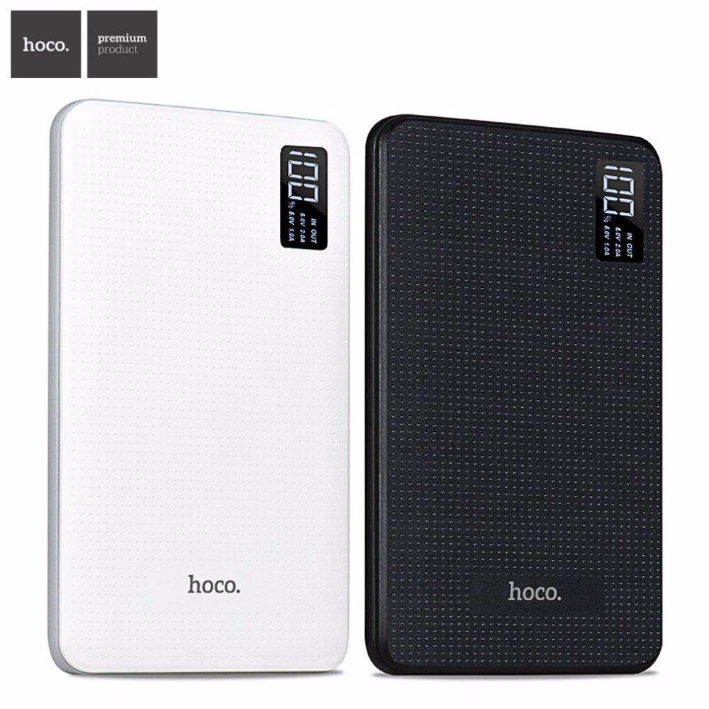 HOCO Original 30000 mAh Power Bank 3USB Cargador de Teléfono Móvil de Salida Baterías externas con Pantalla para xiaomi iphone 5 5S 6 7