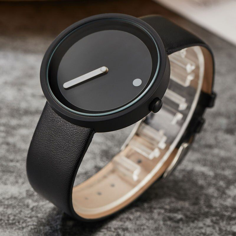 Creative Unique Simple Quartz Fashion Watches Cool Minimalist Style Wristwatch Stainless Steel Dot and Line Design Wristwatches