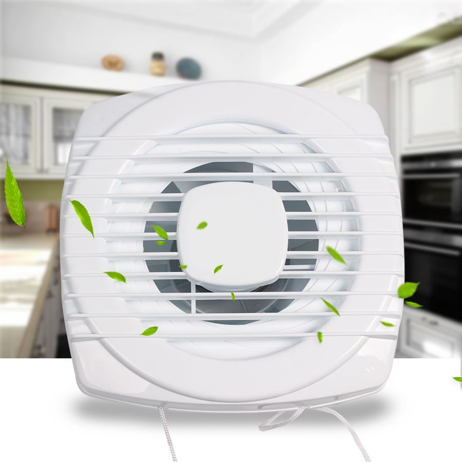 Mini Fan White Exhaust Fan Ventilation Blower Window Wall Mini Air Conditioning Appliances For Kitchen and Bathroom and Toilet