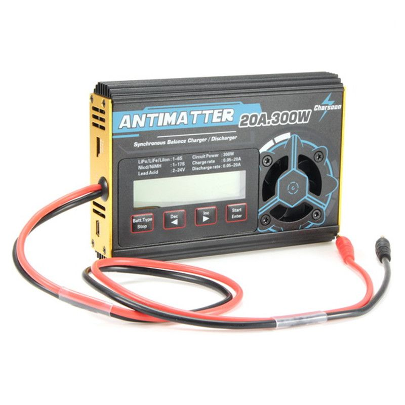 High Quality Charsoon Antimatter 300W 20A Balance Charger Discharger For LiPo NiCd PB Battery With Connector Charge Lead For RC